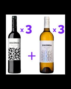 Pack Discórdia (3x Tinto + 3x Branco)