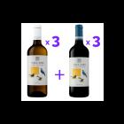 Pack Vallado Três Melros (3x Branco + 3x Tinto)